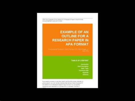 Research Paper Outline Template - 36 Examples, Formats